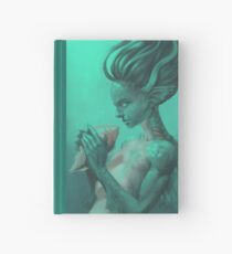 Mermaid with Shell Hardcover Journal