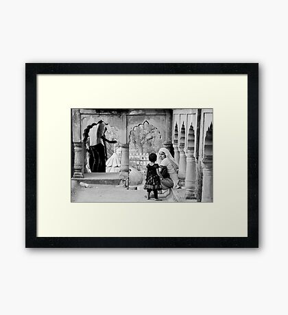A Mother's Moment Framed Print