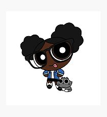 Black powerpuff girl Photographic Print