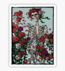 Skeleton & Roses Sticker