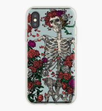 Skeleton & Roses iPhone Case