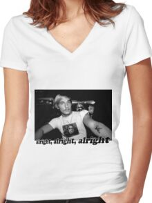 Well alright, alright, alright! Women's Fitted V-Neck T-Shirt