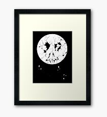 Decayed Moon Framed Print
