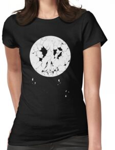 Decayed Moon Womens Fitted T-Shirt