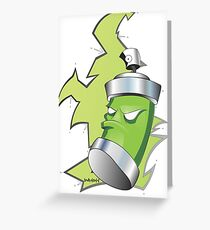 the spray can dude Greeting Card