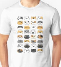 Neko atsume - cat collector faces T-Shirt