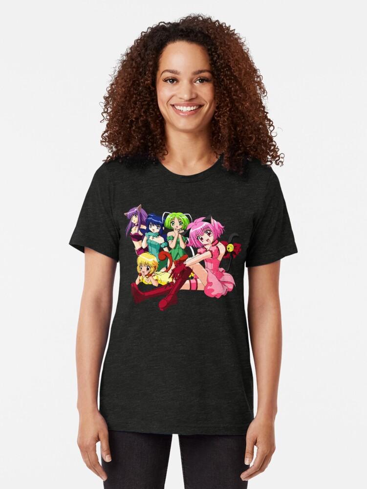 Vista alternativa de Camiseta de tejido mixto Tokyo Mew Mew Group