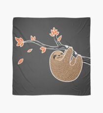 Sloth in Autumn Scarf