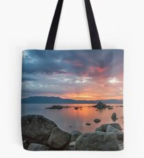 Dusk at Zephyr Cove Tote Bag