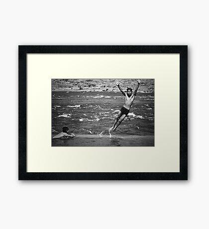 Hare Om Framed Print