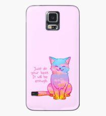 """Funda/vinilo para Samsung Galaxy El gato del atardecer """"Your Best Is Enough"""""""