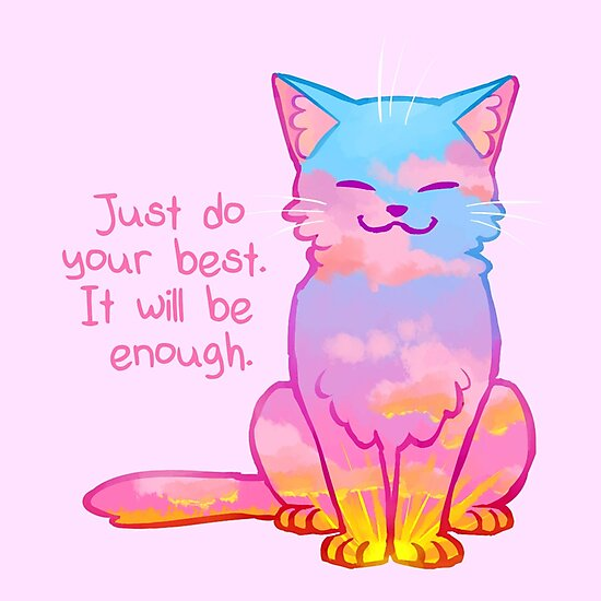 """Your Best Is Enough"" Sunset Cat by thelatestkate"