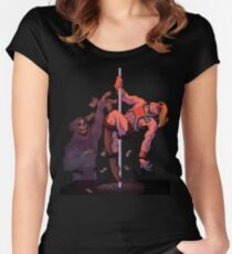 BY THE POWER OF GRAYSKULL Women's Fitted Scoop T-Shirt