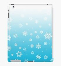 Ombre Blue White Snow iPad Case/Skin
