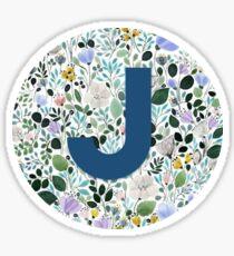 J letter monogram Sticker