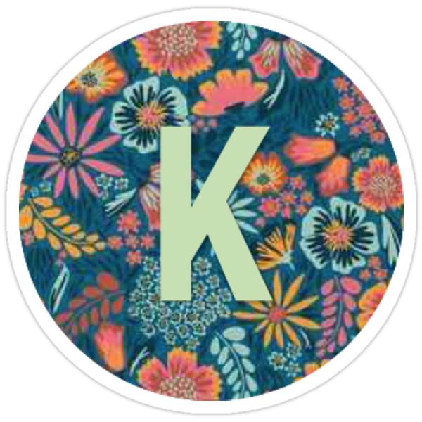 Quot K Letter Monogram Quot Stickers By Lizziehorstmann Redbubble