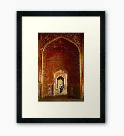 In the Taj Framed Print
