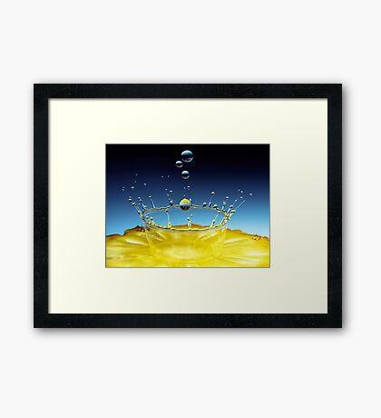 Pineapple Crown Framed Print