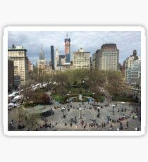 Aerial View, Union Square, New York City Sticker