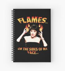 Clue Mrs White Flames Spiral Notebook