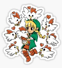 Linkle the Cucco Queen  Sticker