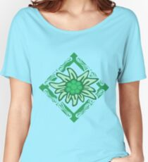 Edelweiss pattern Relaxed Fit T-Shirt