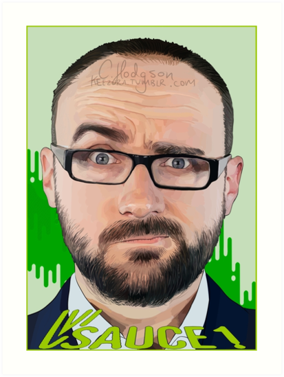 Vsauce Art Prints By Keezura Redbubble
