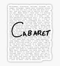 Cabaret Pop Sticker