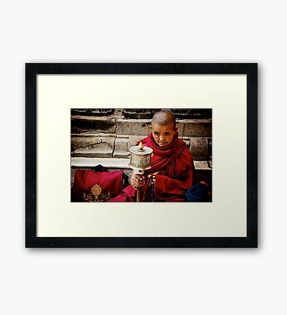 Tibetan Buddhist Nun Framed Print