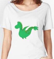 Cute cartoon dragon flying. Women's Relaxed Fit T-Shirt