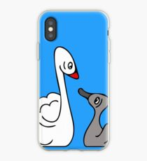 Mama Swan and Cygnet iPhone Case