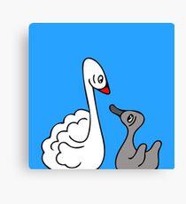 Mama Swan and Cygnet Canvas Print