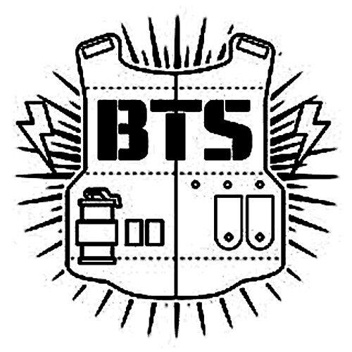 «BTS logo sticker» de Tina Gong | Redbubble