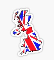 British flag and outline Sticker