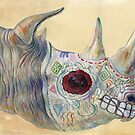 Day of the Dead Rhino by Brandon Keehner