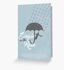 Singin' in the Rain Poster Greeting Card