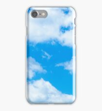 Blue Sky White Clouds Background Cloudy Skies Texture Skyscape Pattern iPhone Case/Skin