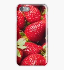 Red Strawberries Berries Fruit Strawberry Berry Background iPhone Case/Skin