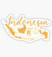 Indonesia with map Sticker
