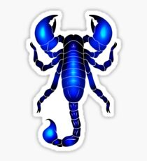 Blacklit Emperor Scorpion Sticker