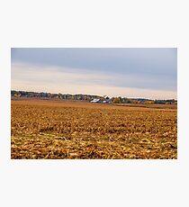 Autumn On An Indiana Farm Photographic Print