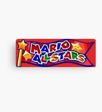 The Mario All Stars Canvas Print