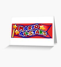 The Mario All Stars Greeting Card