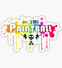 Paintball Established 1981 Sticker