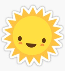 Cute kawaii sun cartoon character Sticker