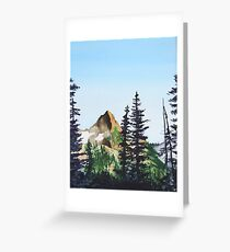 Red Mountain Landscape Greeting Card