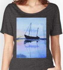 Single Boat Seascape Women's Relaxed Fit T-Shirt