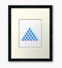 Q*Bert Pyramid Framed Print