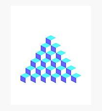 Q*Bert Pyramid Photographic Print