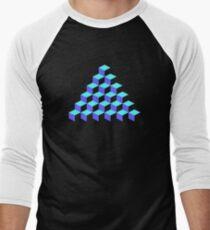 Q*Bert Pyramid Men's Baseball ¾ T-Shirt